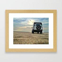Defender in Desert Framed Art Print