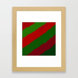 Red and Green Christmas Gift Framed Art Print