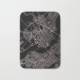 Wilkes-Barre Rose Gold and White Map Bath Mat
