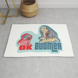OK Boomer Pugs Rug