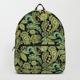 Green Paisley Backpack