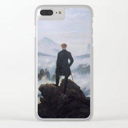 Le voyageur contemplant une mer de nuages Clear iPhone Case