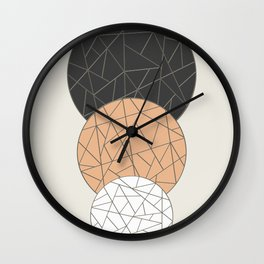 TRIAD ON BEIGE (abstract circles) Wall Clock