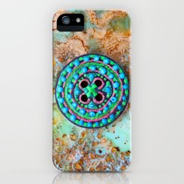 Button for happiness iPhone Case
