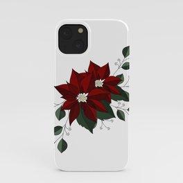 Nochebuena Poinsettia iPhone Case