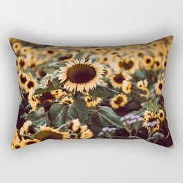 Sunflower field II Rectangular Pillow