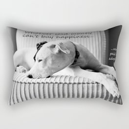 Whoever said money can't buy happiness, never paid and adoption fee Rectangular Pillow