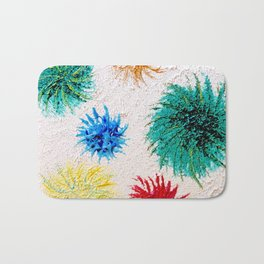 """Spring Burst"" Original Oil Painting Bath Mat"