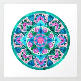 Healing Garden Mandala Art Print