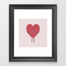 Heart Hands Framed Art Print