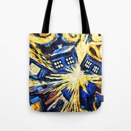 Tardis By Van Gogh - Doctor Who Tote Bag