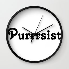 Purrrsist Wall Clock