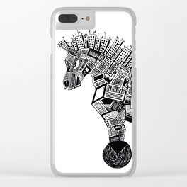 Trojan Horse Clear iPhone Case