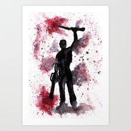 ARMY OF DARKNESS - Boom Stick - Original Watercolor Art Print Art Print