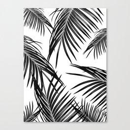 Black Palm Leaves Dream #1 #tropical #decor #art #society6 Canvas Print