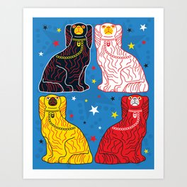 staffordshire dogs Art Print