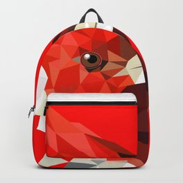 Cardinal bird Geometric bird art Red Nature Backpack