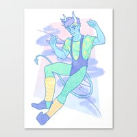 heymonster Canvas Prints featuring Jazzercise by heymonster