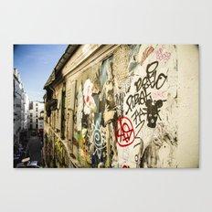 Montmartre Street Art 1 Canvas Print