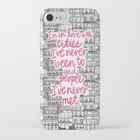 cities iPhone & iPod Cases featuring Cities by Raphaella Martelino