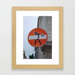 It's OK. Framed Art Print