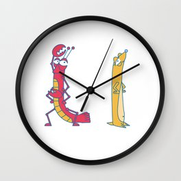 L Uppercase/Lowercase Pair, no border Wall Clock