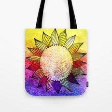 Rainbow Sun Design Tote Bag