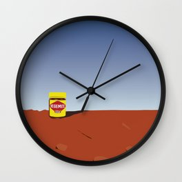 outback vegemite Wall Clock
