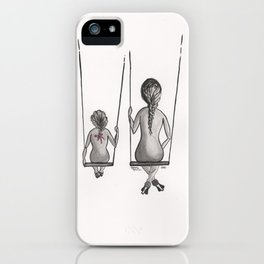 Mother&Daughter 3a Swings iPhone Case