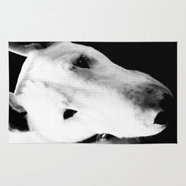 Confused English Bull Terrier Rug