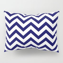 Simple Chevron Pattern - Blue & White - Mix & Match with Simplicity of life Pillow Sham