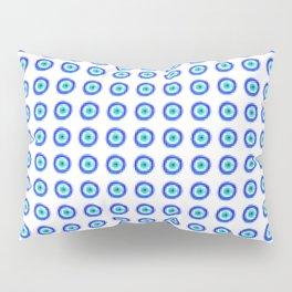 Pixel Evil Eye Pattern Pillow Sham