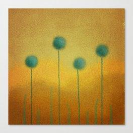 Flores Blu Canvas Print