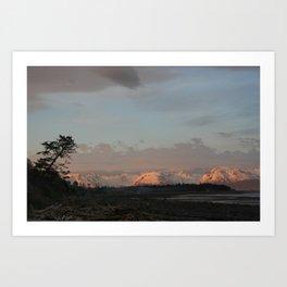 Sunset on Bishop's Beach - Homer, AK Art Print