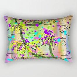 LEAF ABSTRACT Design Pattern Rectangular Pillow