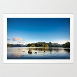 Ducks on Lake Derewentwater near Keswick, England Art Print