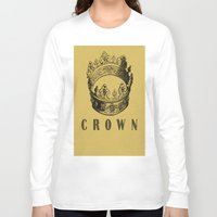 crown Long Sleeve T-shirts featuring Crown by NYLONPISTOL