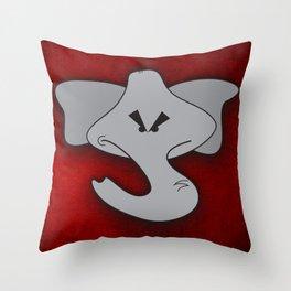 Enraged Elephant Throw Pillow