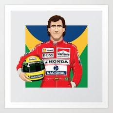 Ayrton Senna's Portrait Art Print