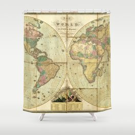 World Map (1826) Shower Curtain