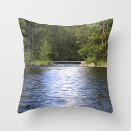 Relaxing View To The Lake Throw Pillow