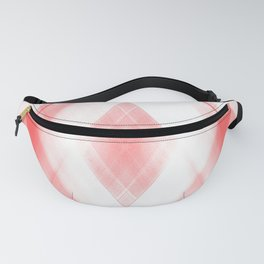 Light warm triangular strokes of intersecting sharp lines with ruby triangles and stripes. Fanny Pack