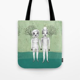 gymnast couple in the forest Tote Bag