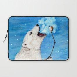 Polar Bear with Toasted Marshmallow Laptop Sleeve