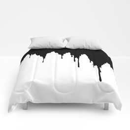 Dripping Ink Comforters