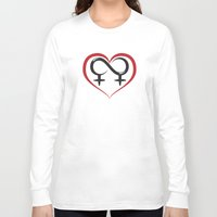lesbian Long Sleeve T-shirts featuring Lesbian Love by Dragon Servant