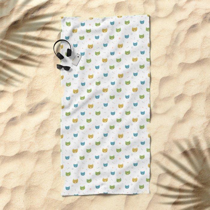 Cute Cats Beach Towel