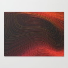 Layers Red Canvas Print