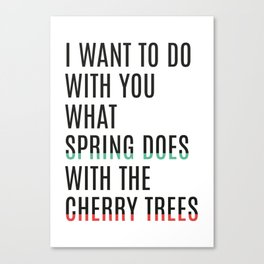 Spring & cherry trees Canvas Print