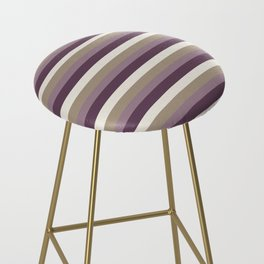 Stripes in Magenta, Lavender and Cream Bar Stool